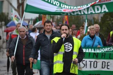 Marcha obrera en la vega baja de Granada